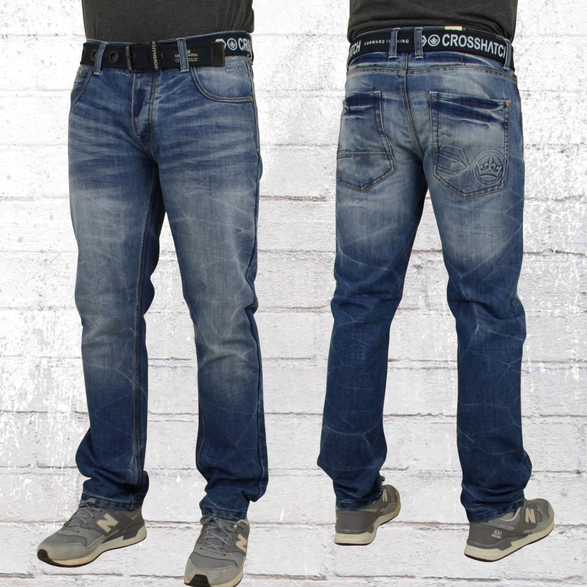 jetzt bestellen cross hatch herren jeans hose new embossed blau krasse. Black Bedroom Furniture Sets. Home Design Ideas