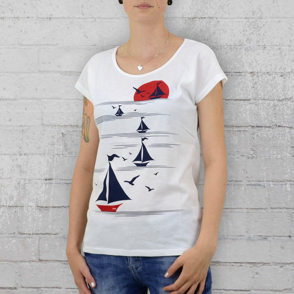 order now derbe ladies t shirt sail away white. Black Bedroom Furniture Sets. Home Design Ideas