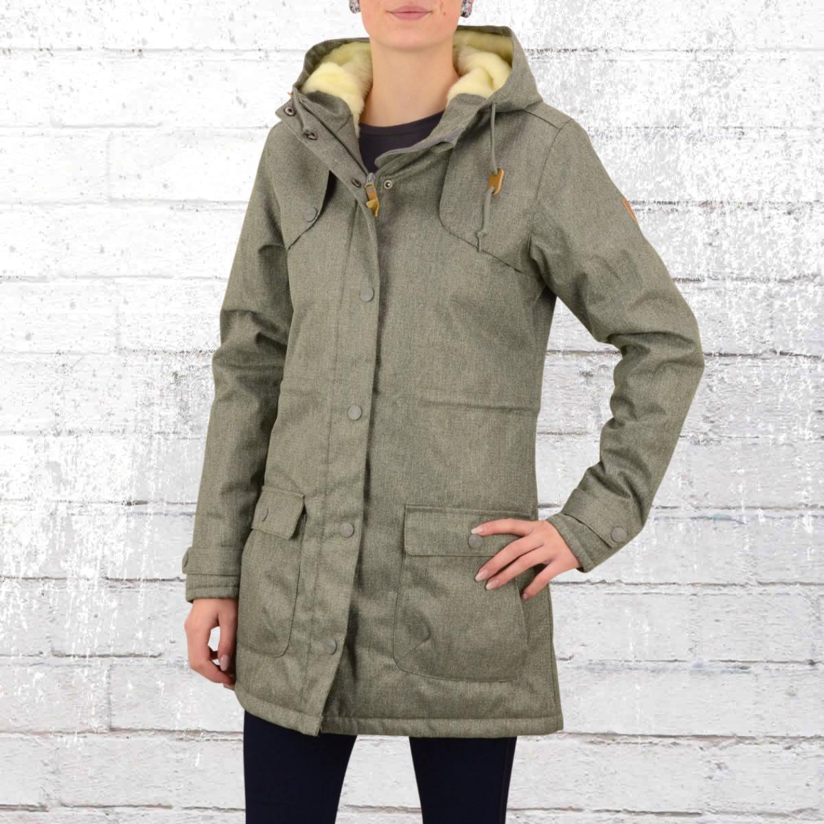 Derbe Hamburg Ladies Winter Coat Isola grey melange. ›‹ «