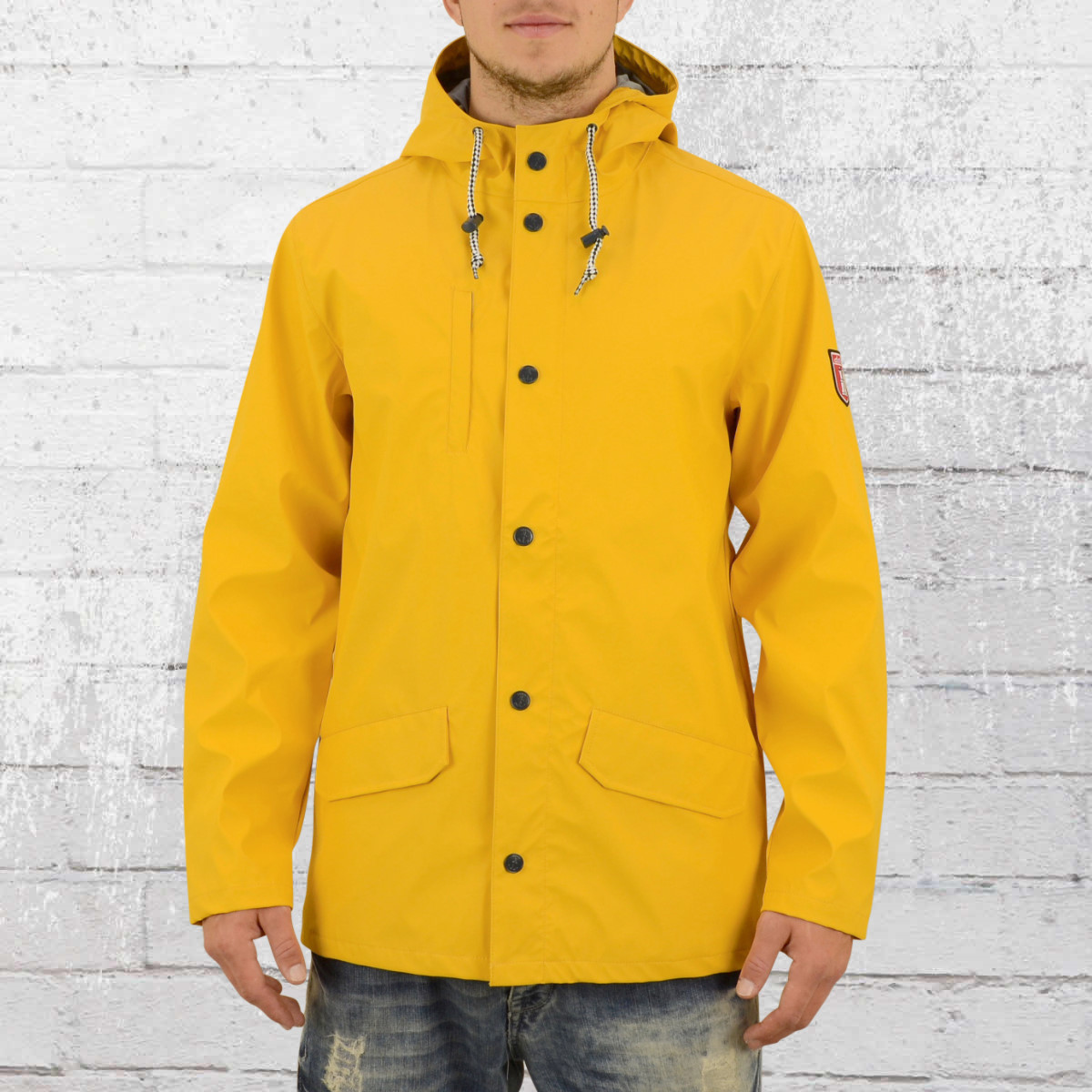 Derbe Hamburg Mens Rain Coat Passenger yellow grey. ›‹ «