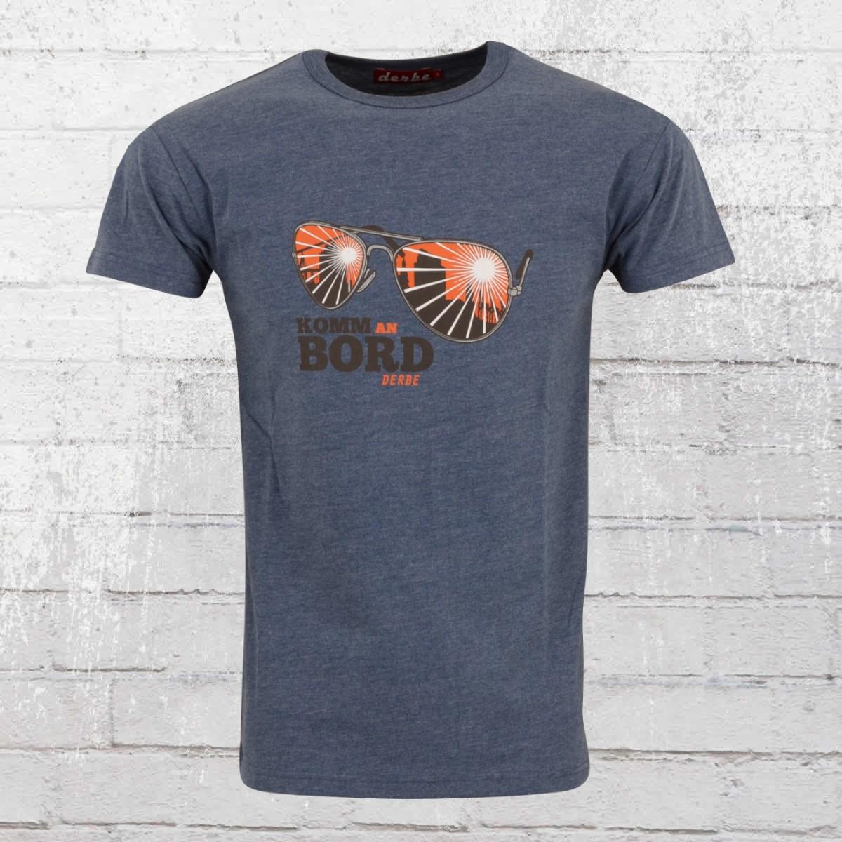 a4157ec1 Shirts & Hemden Derbe Hamburg Herren T-Shirt Komm an Bord navy blau Männer  Tshirt