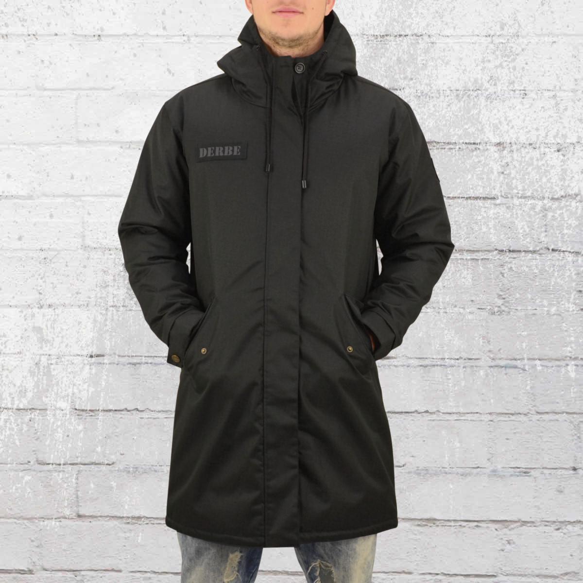 Derbe Hamburg Black Joke Mens Winter Coat Parka black. ›‹ «