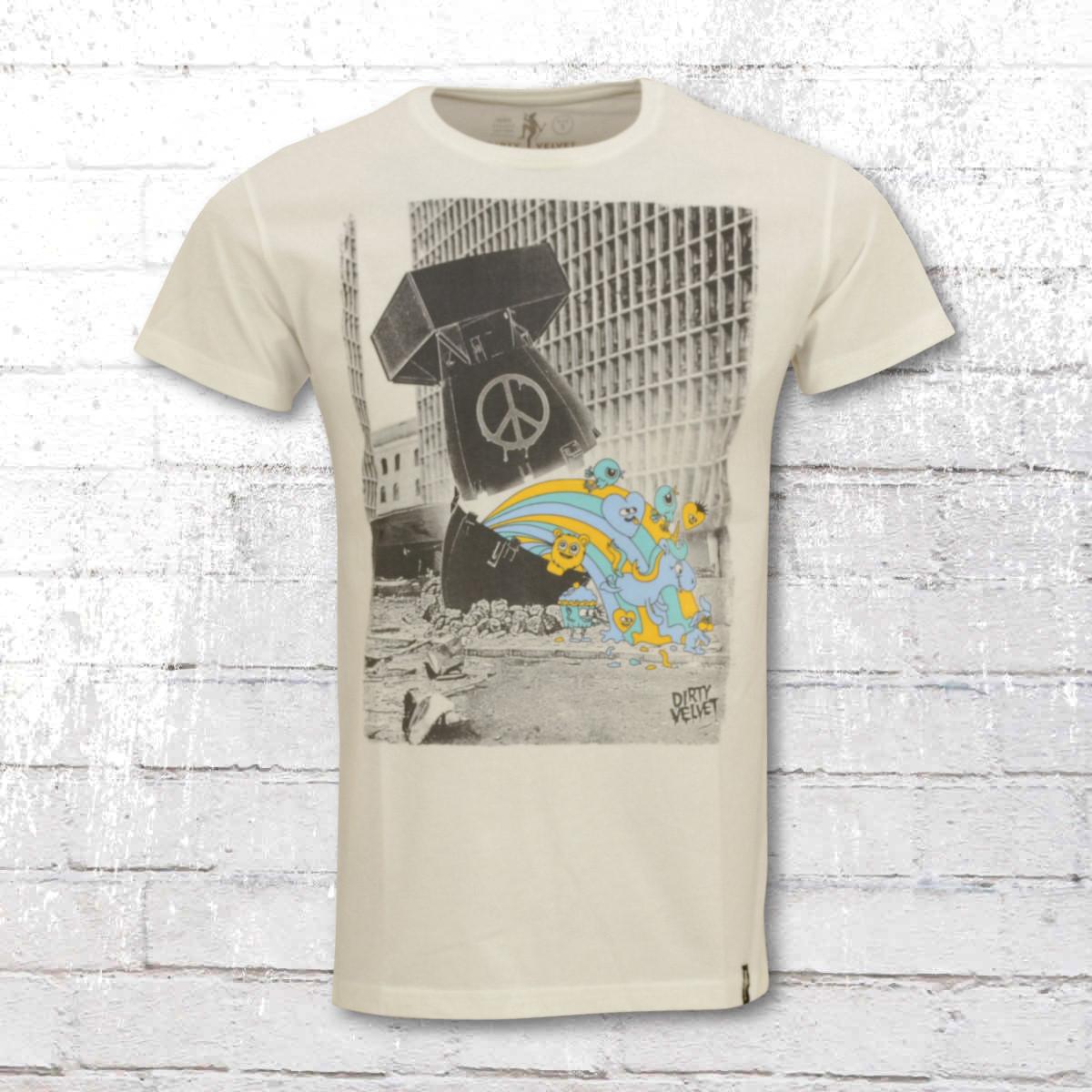 Dirty Velvet Mens Tee-Shirt Dirty Bomb vintage white. ›‹ «