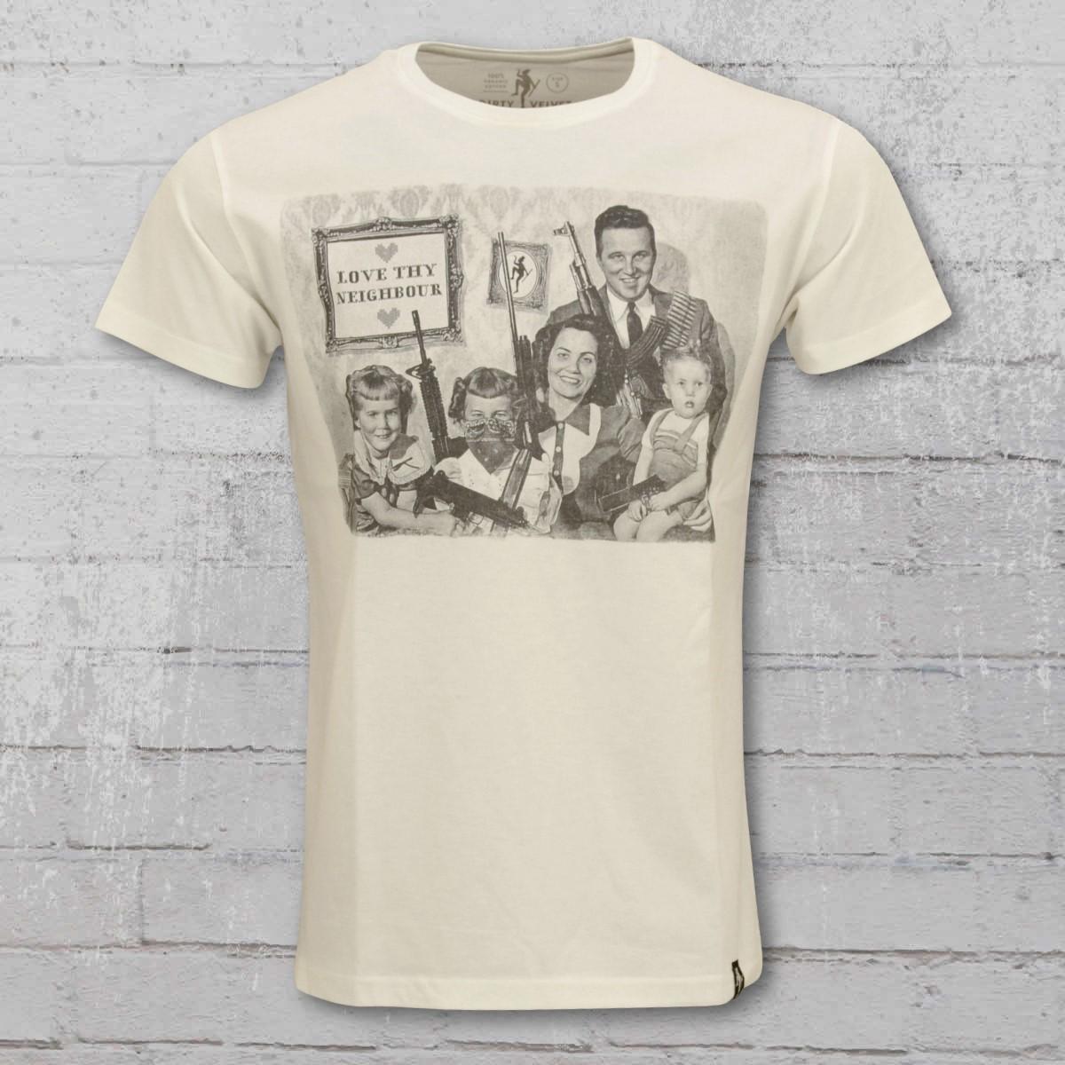 Dirty Velvet T-Shirt Men Guns Guns Guns nature white. ›‹ «