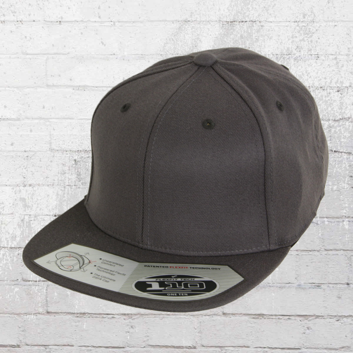 756838160eb4d Flexfit 110 Fitted Snapback Cap dark grey. ›‹ «