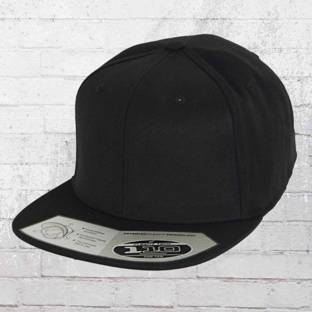 0b2c616ffd739 Flexfit 110 Fitted Snapback Cap black. ›‹ «