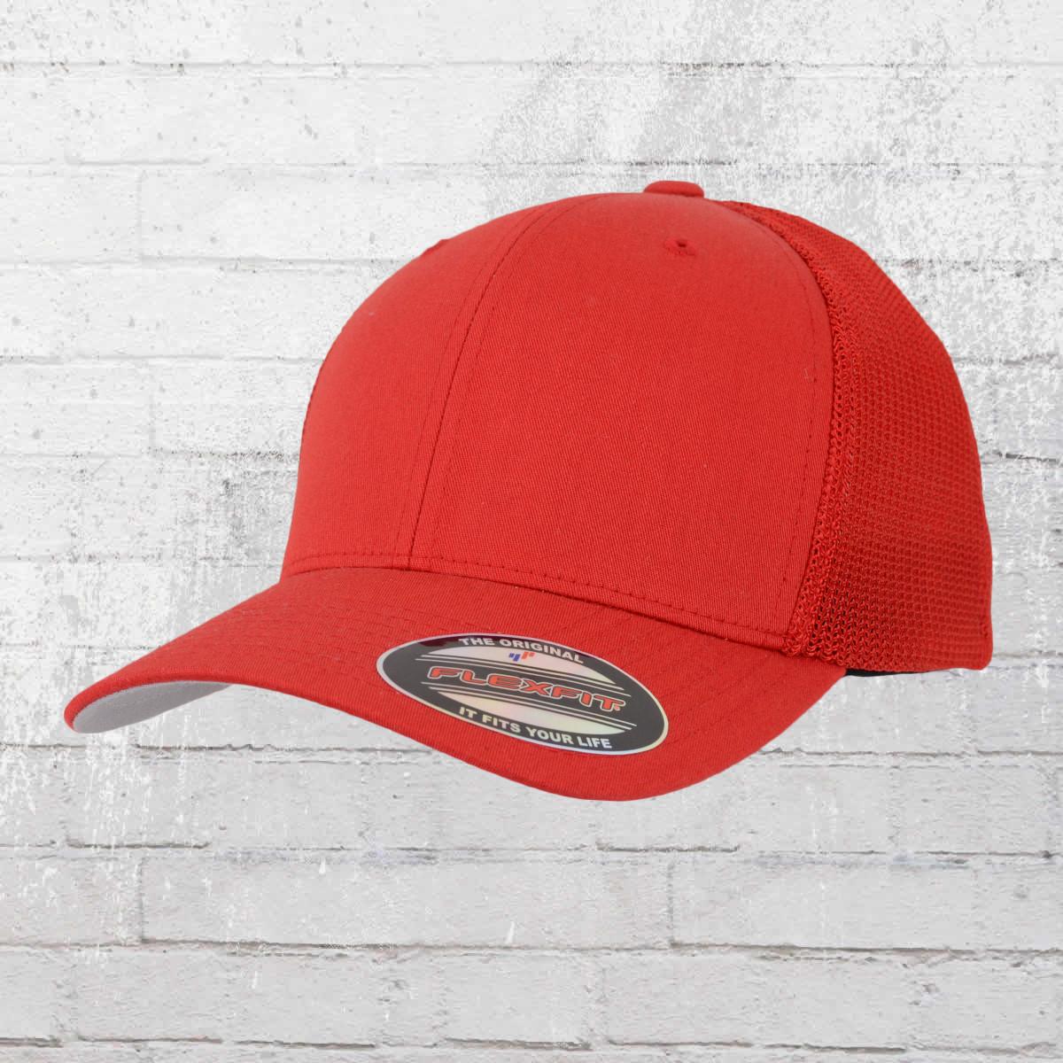 Order now | Flexfit Trucker Hat Mesh Cap red