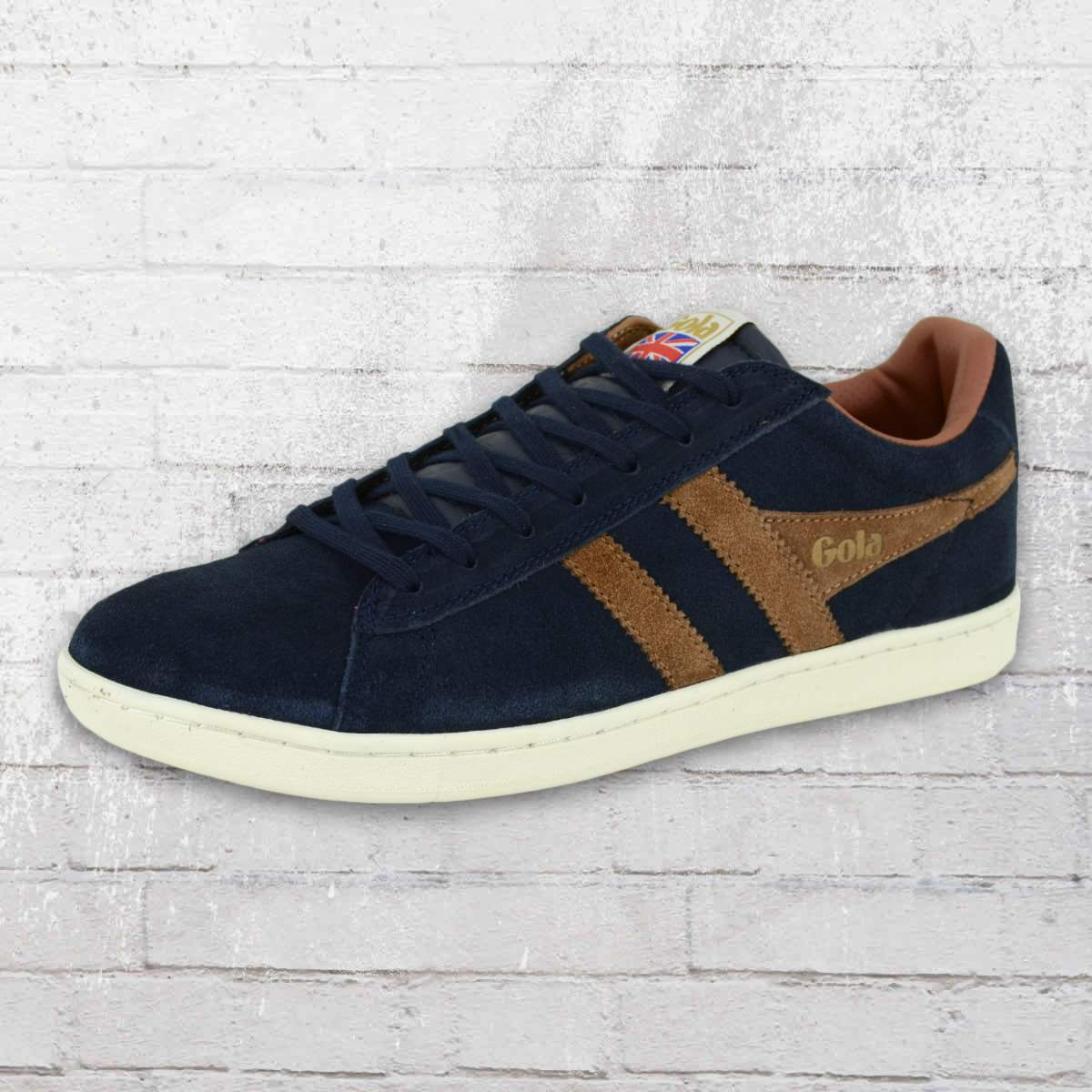 Gola Male Shoes Equipe Suede Trainer navy blue tobacco