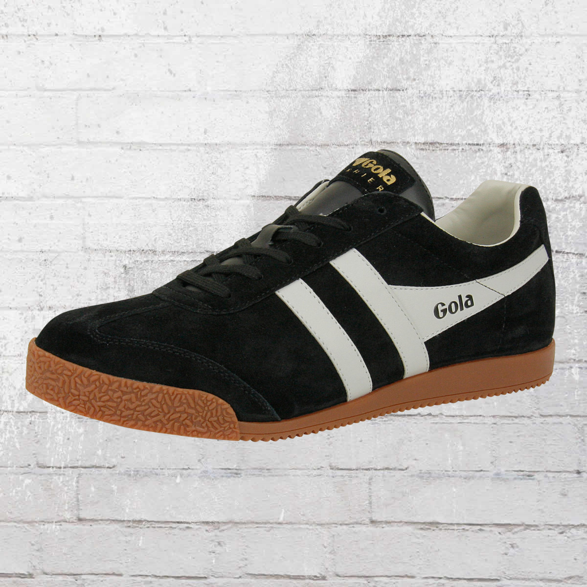 Gola Male Shoes Harrier Suede Retro Sneaker black grey. ›‹ «