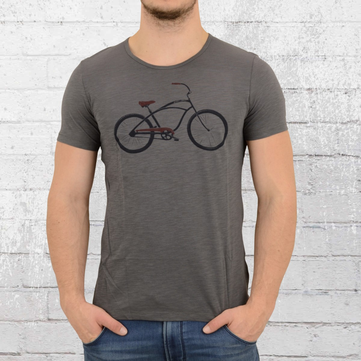 Greenbomb Bycycle Male T-Shirt Beach Cruiser anthracite. ›‹ «