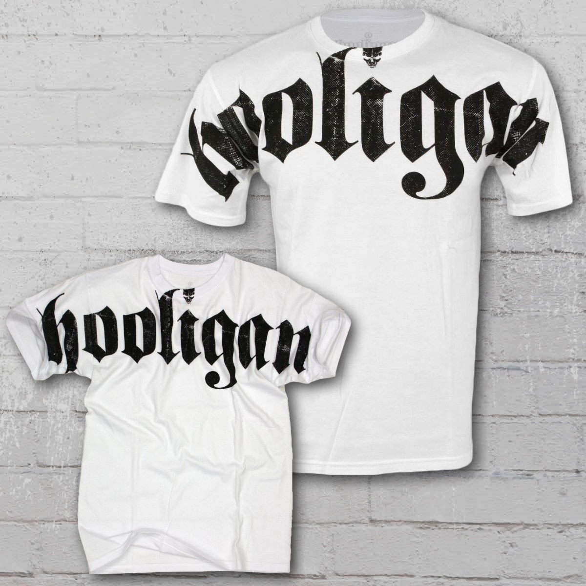 Hooligan T-Shirt Gents FAT white. ›‹ «