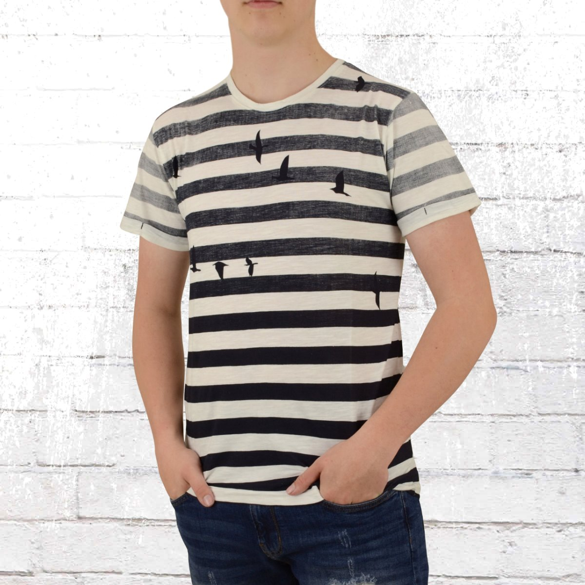 finest selection e1e68 26145 Jetzt bestellen | Indicode Herren T-Shirt Danny blau weiss ...