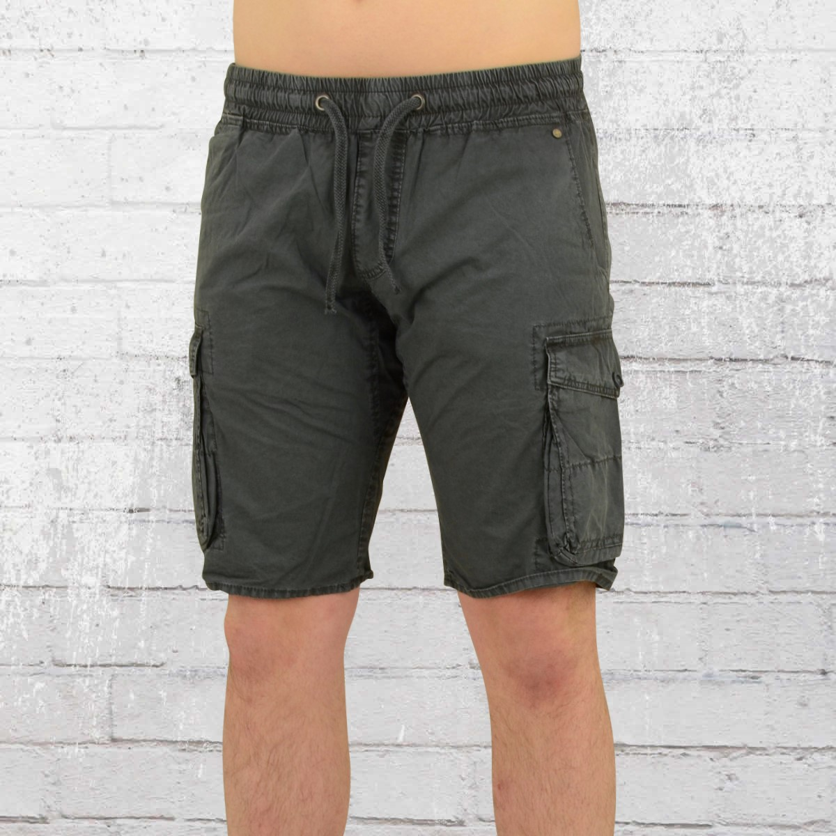 order now jet lag mens cargo short with stretchy waistband 17 129 grey. Black Bedroom Furniture Sets. Home Design Ideas