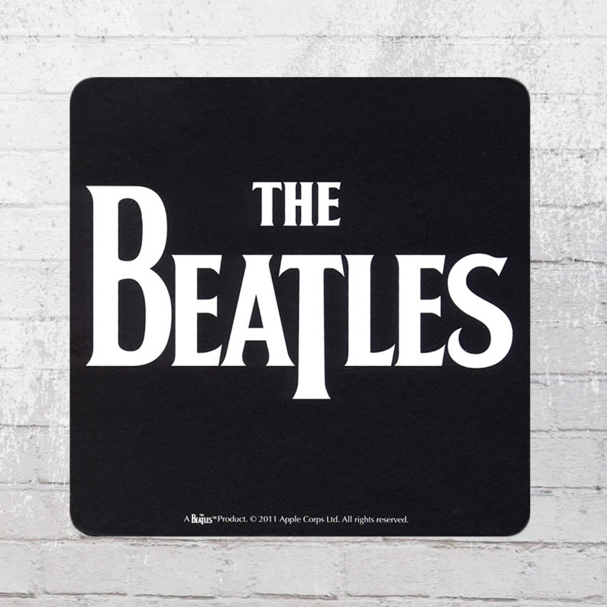 Logoshirt Coaster The Beatles Logo Black