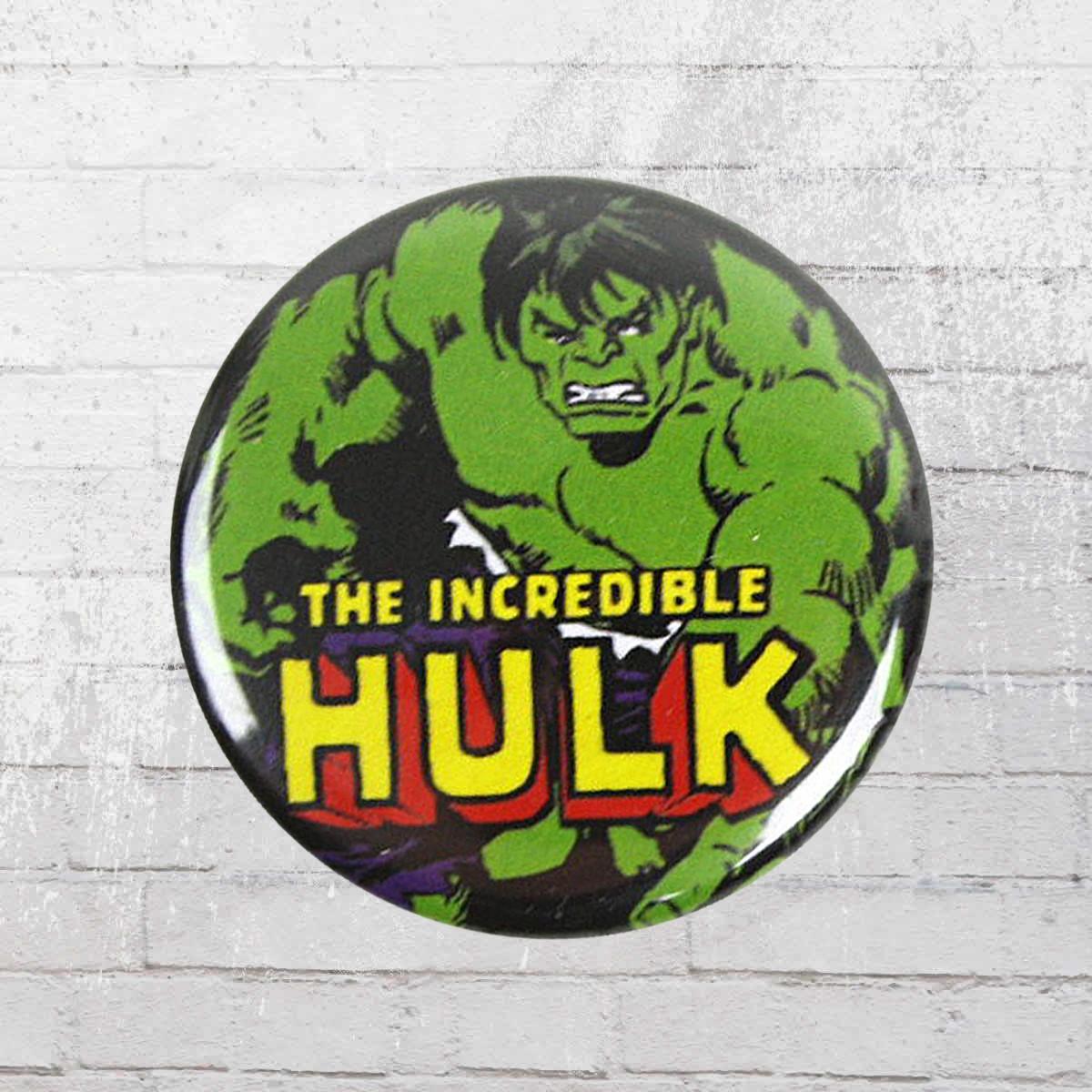 16e09d59 Order now | Logoshirt Comic Badge Hulk Marvel Button