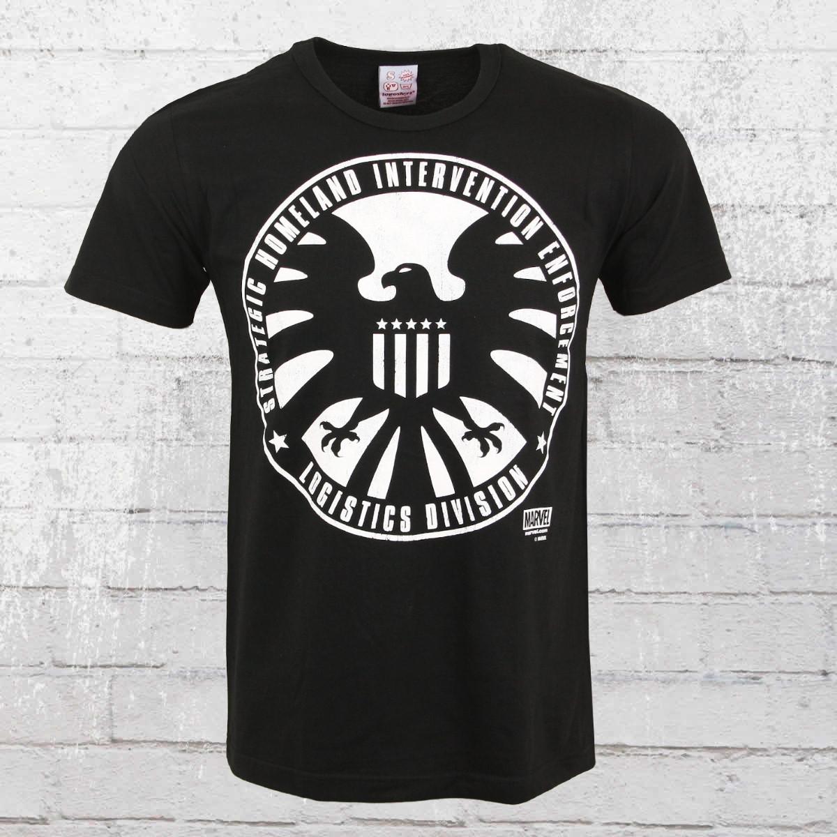 Logoshirt Male T-Shirt Marvel SHIELD Logo black. ›‹ «