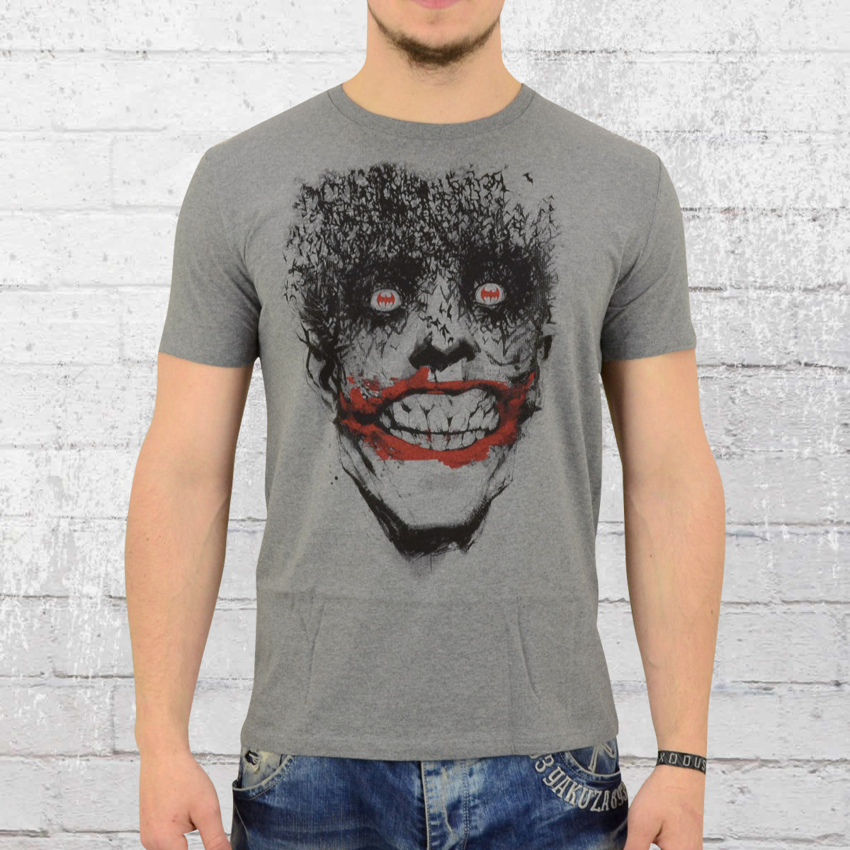 new arrival 3285c 2a427 Order now | Lolly and Rock Male T-Shirt Batman Joker grey ...