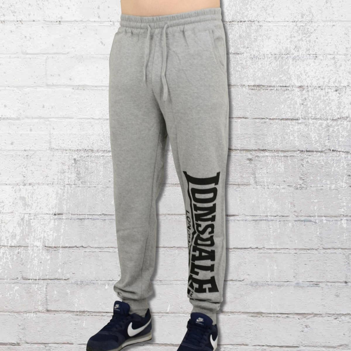 jetzt bestellen lonsdale london herren jogginghose logo large grau meliert krasse. Black Bedroom Furniture Sets. Home Design Ideas