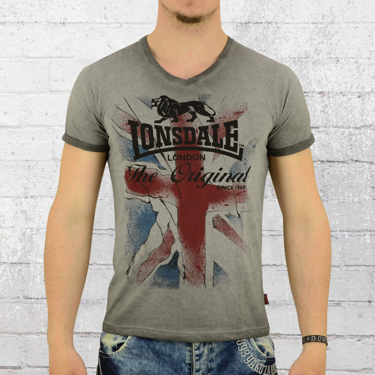 jetzt bestellen lonsdale london herren t shirt chinnor dunkelgrau krasse. Black Bedroom Furniture Sets. Home Design Ideas