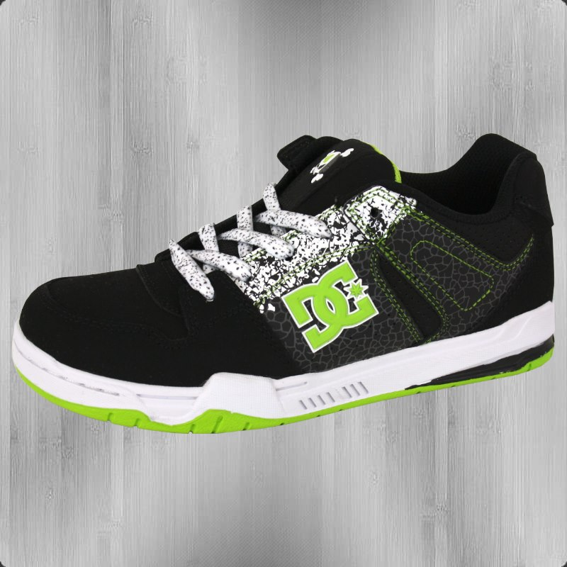 Lime Green And Black Dc Shoes Shirts