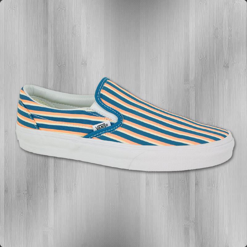 VANS Frauen Schuhe Classic Slip On Multi Stripes teal peach nectar - 41 H6s94Q1kg