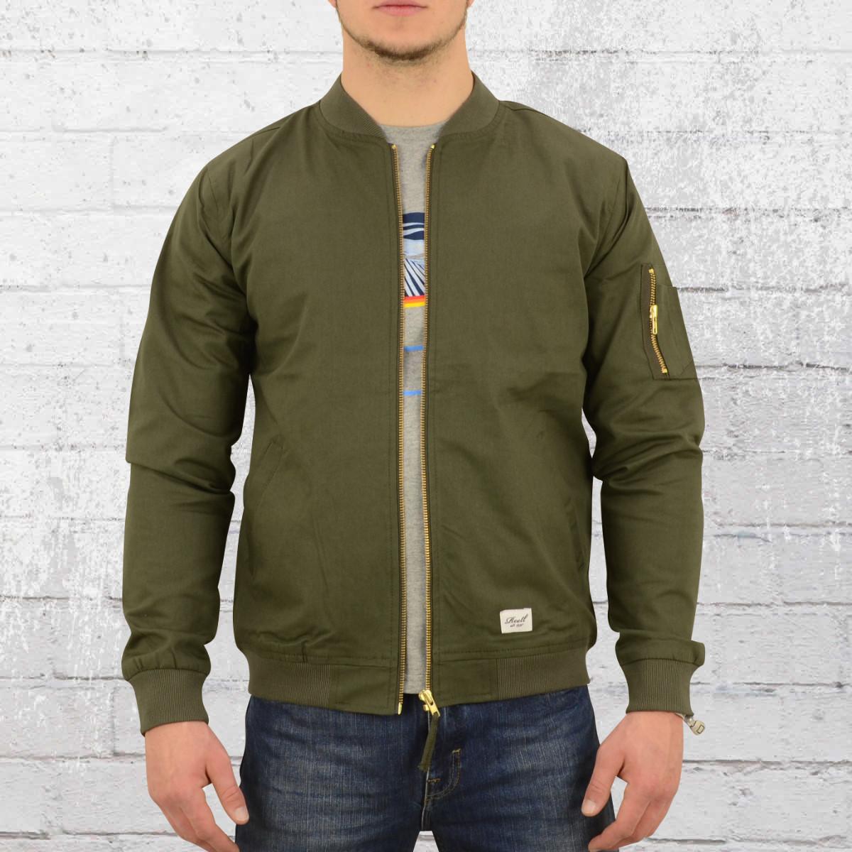 Reell Herren Bomber Jacke Flight Jacket oliv. ›‹ «