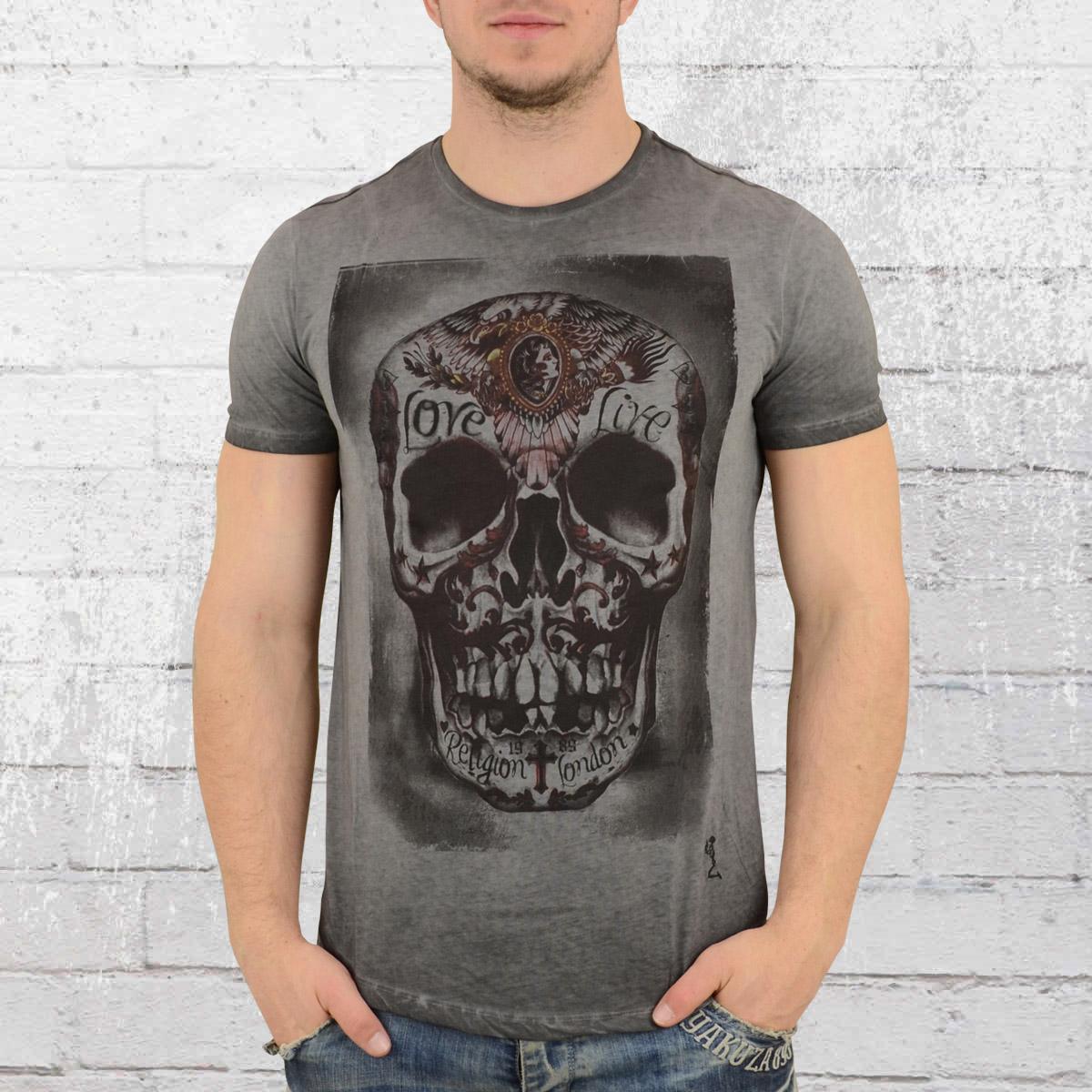 9e5b482cc970cb Religion Clothing T-Shirt Männer Tribes Skull vintage grau. ›‹ «