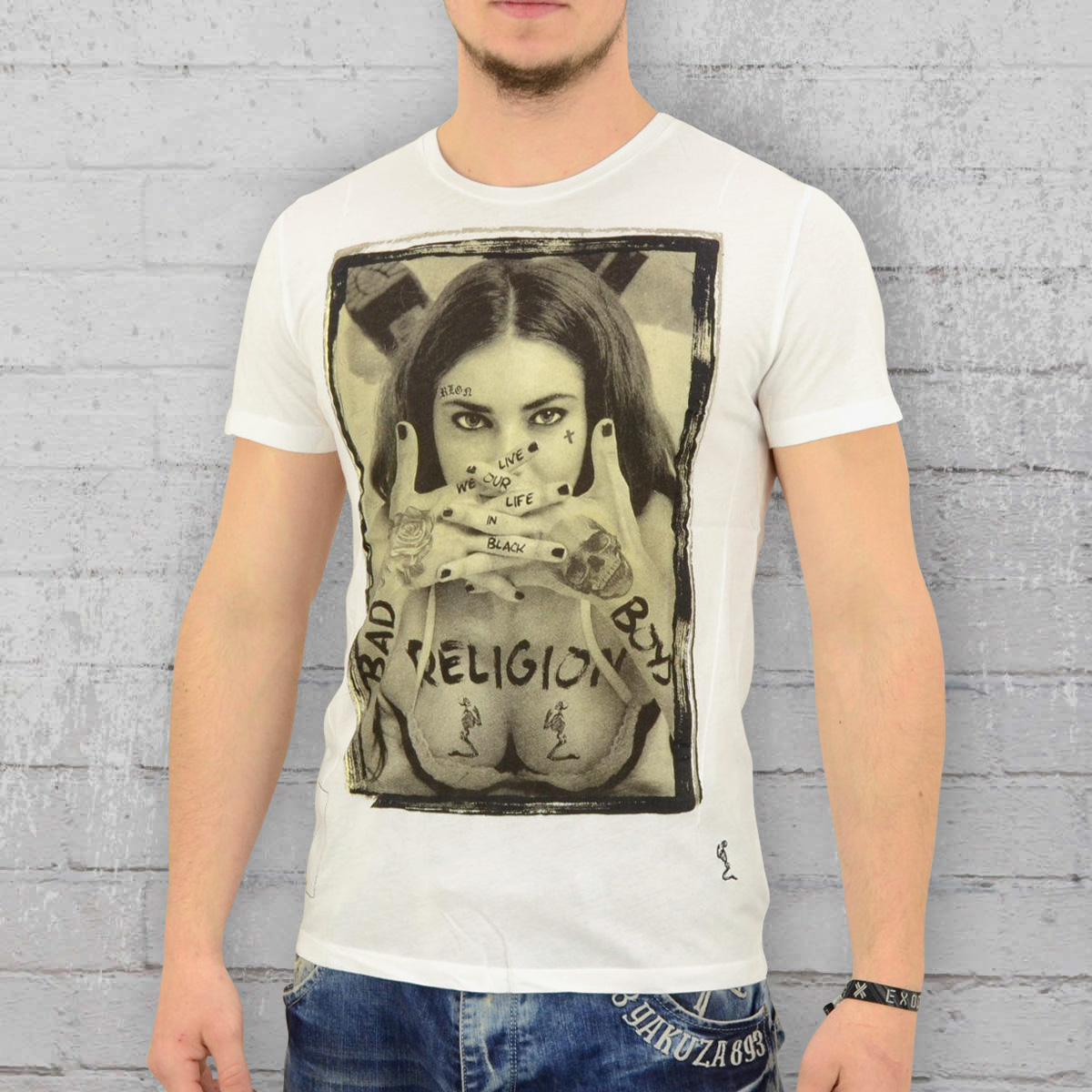 Order Now Religion Clothing T Shirt Gents Bad Boys White