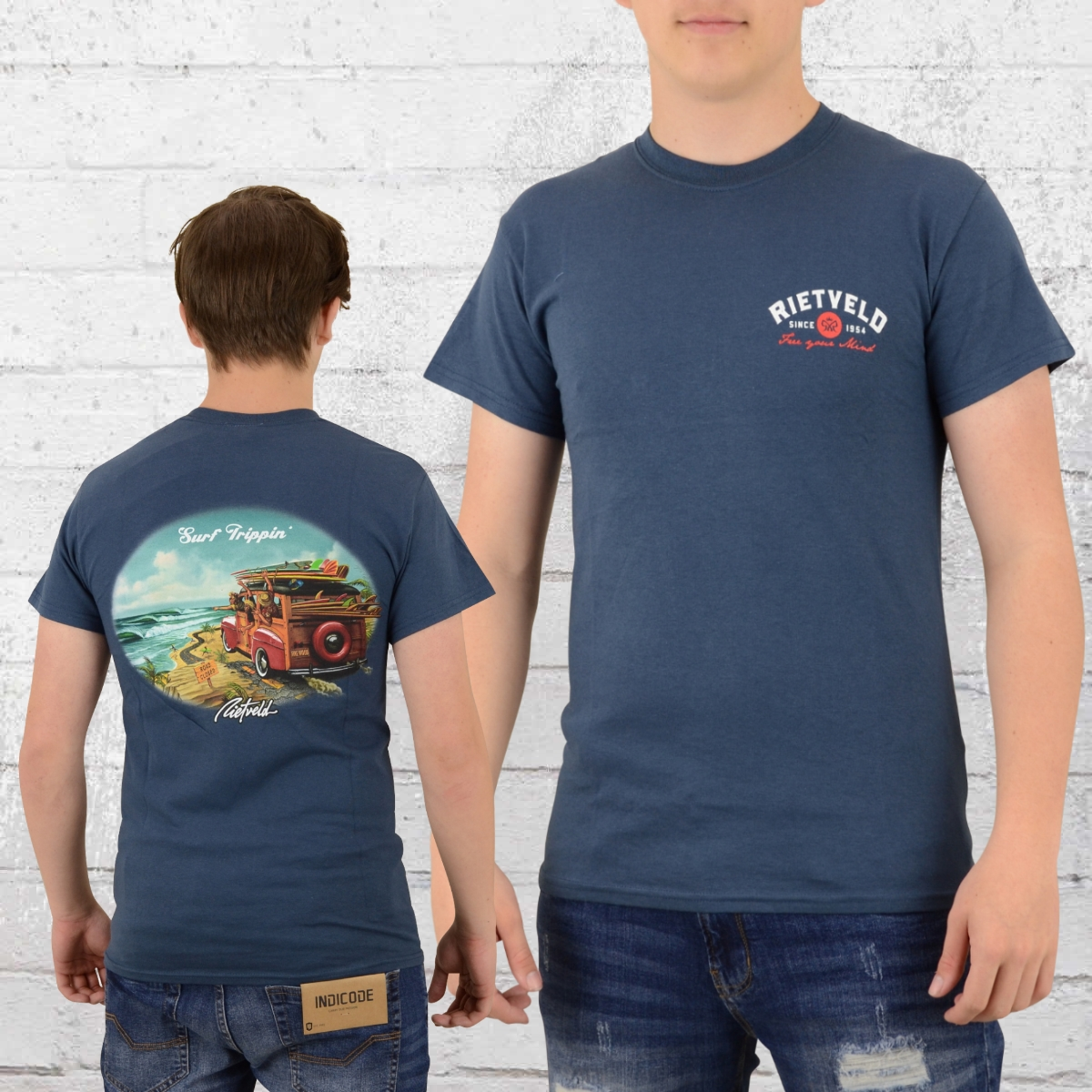 f5fd5d4bf Order now | Rietveld Mens T-Shirt Surf Trippin navy blue