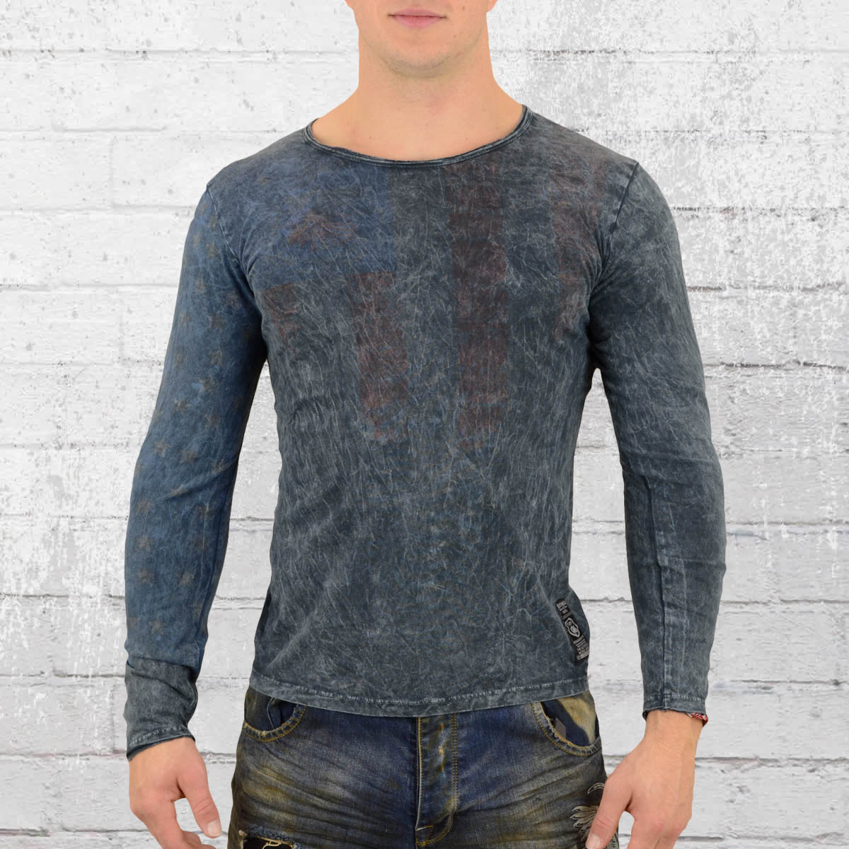 c02d6aacad6d Jetzt bestellen   Rusty Neal Stars N Stripes Longsleeve T-Shirt ...