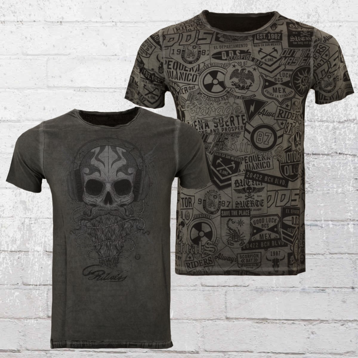 10830d26914cac Scorpion Bay Reversible T-Shirt Fuel Double Face anthracite. ›‹