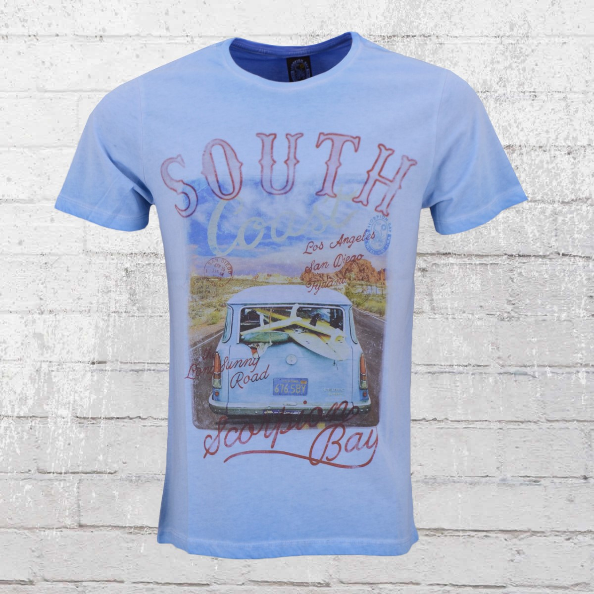 Order now | Scorpion Bay Mens T Shirt South Coast vintage blue