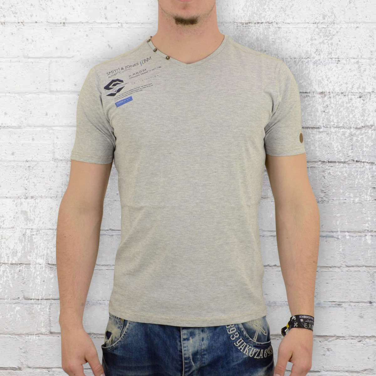 Order now smith and jones t shirt mens escrick grey heather for Mens heather grey t shirt