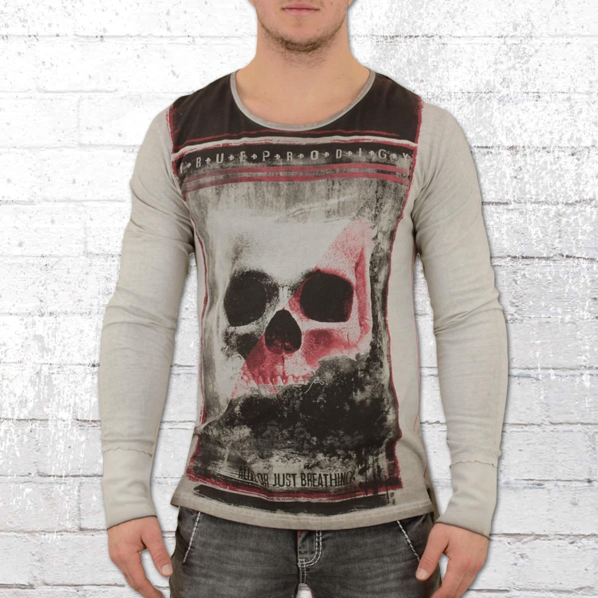 c0e7179d6538 Jetzt bestellen   Trueprodigy Männer Langarm T-Shirt Large Skull ...