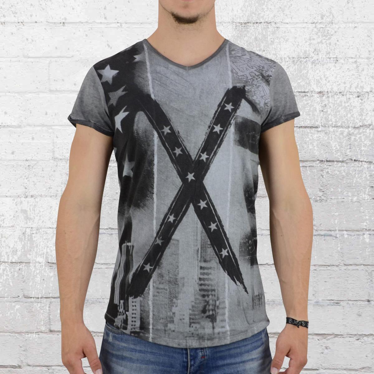 8defde6d2b36 Jetzt bestellen   Trueprodigy Männer T-Shirt Big Flag anthrazit ...