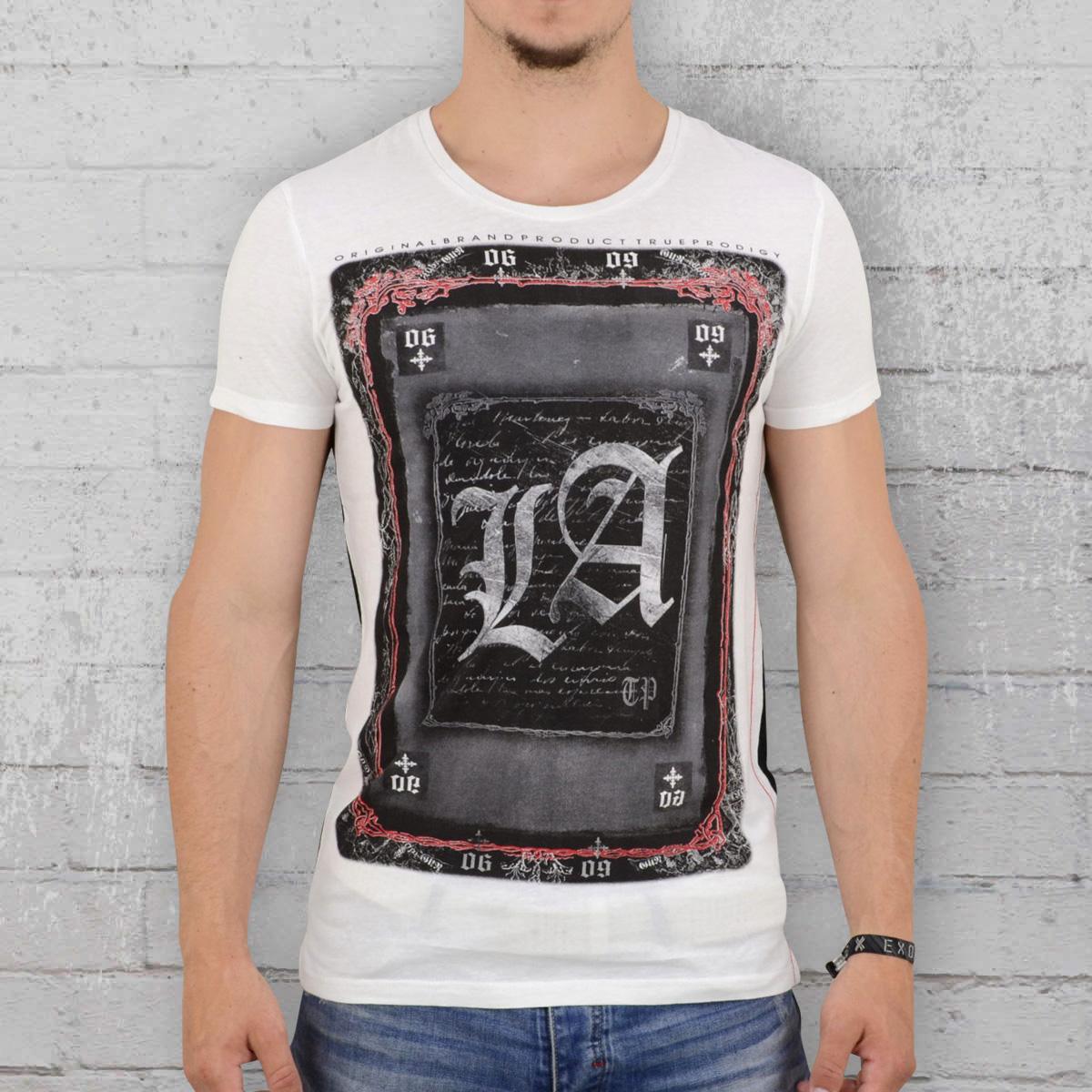 61097f2b17be Jetzt bestellen   Trueprodigy T-Shirt Männer LA Card weiss schwarz ...