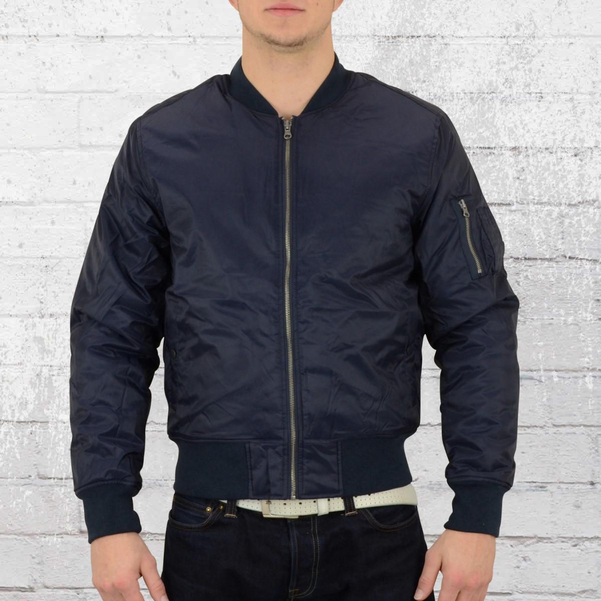 7f790fb4639b11 Order now | Urban Classics Male Classic Bomber Jacket dark blue