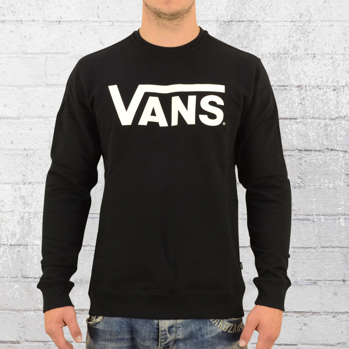 dea21c21b4 Vans Mens Sweater Classic Crew Jumper black. ›‹ «