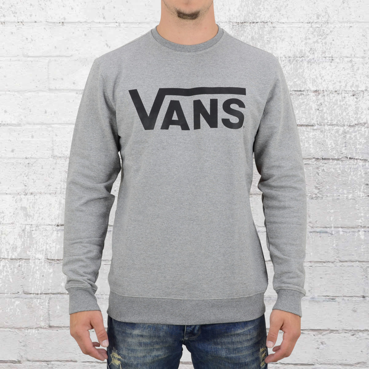 9d1d8cba Order now | Vans Mens Sweatshirt Classic Crew grey heather