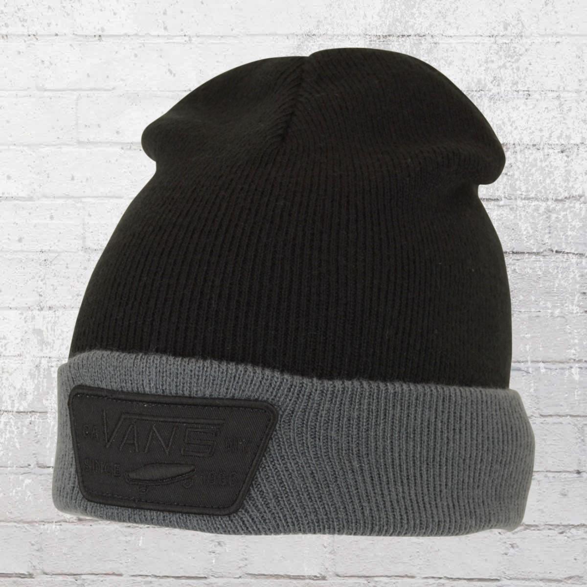 VANS Beanie Milford Knit Hat black grey. ›‹ «