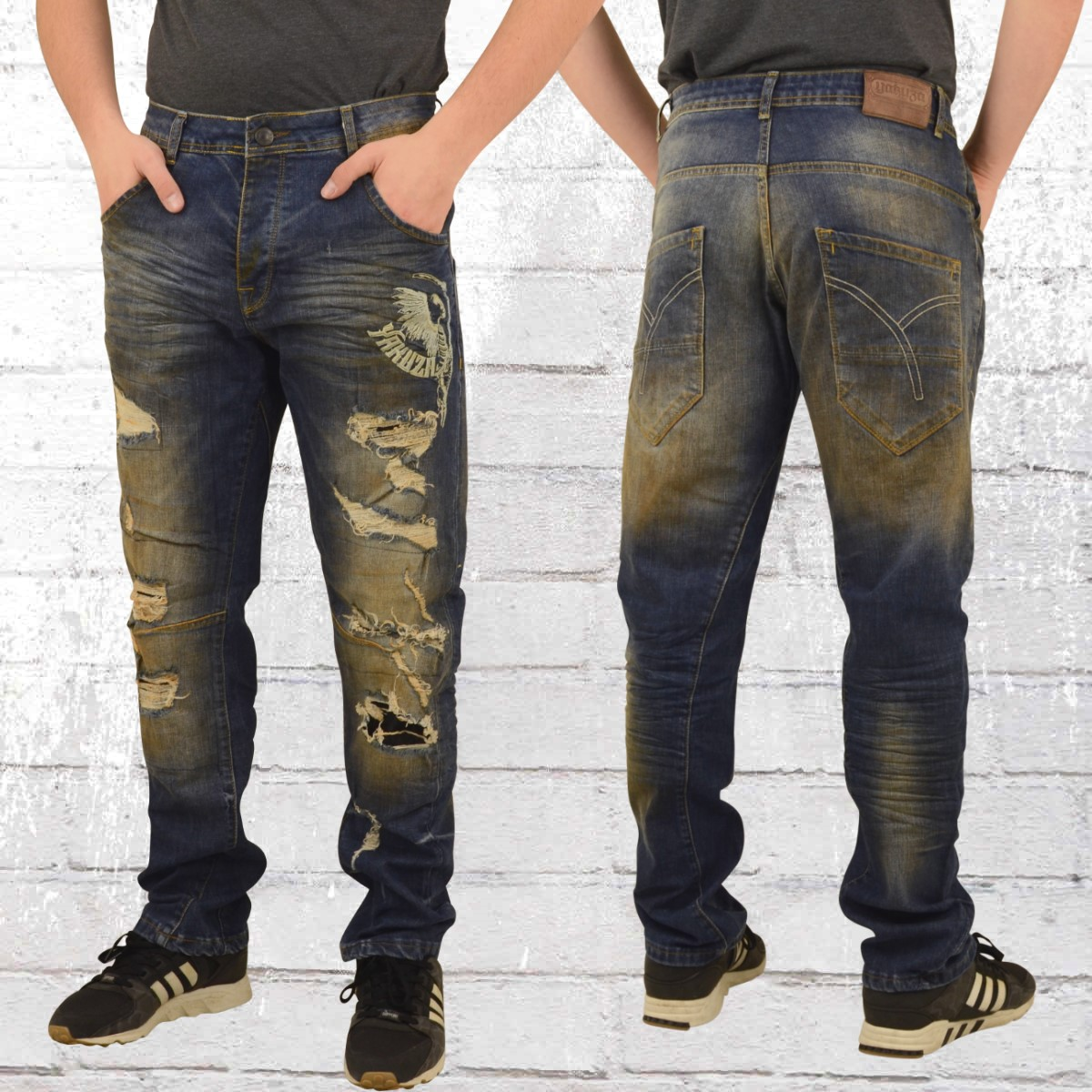 jetzt bestellen yakuza m nner jeans hose skeleton loose bronze krasse. Black Bedroom Furniture Sets. Home Design Ideas