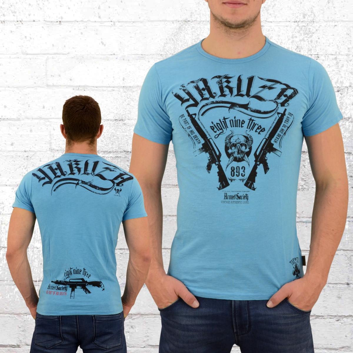 jetzt bestellen yakuza t shirt herren armed society blau. Black Bedroom Furniture Sets. Home Design Ideas