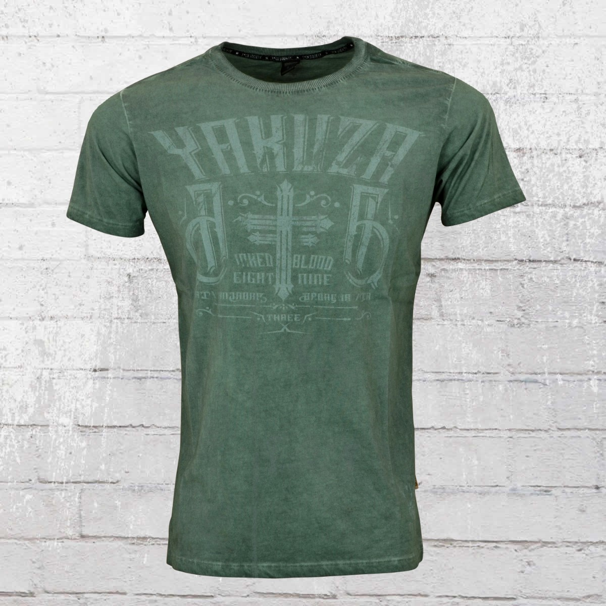order now yakuza t shirt men inked in dark blood 9018 green. Black Bedroom Furniture Sets. Home Design Ideas
