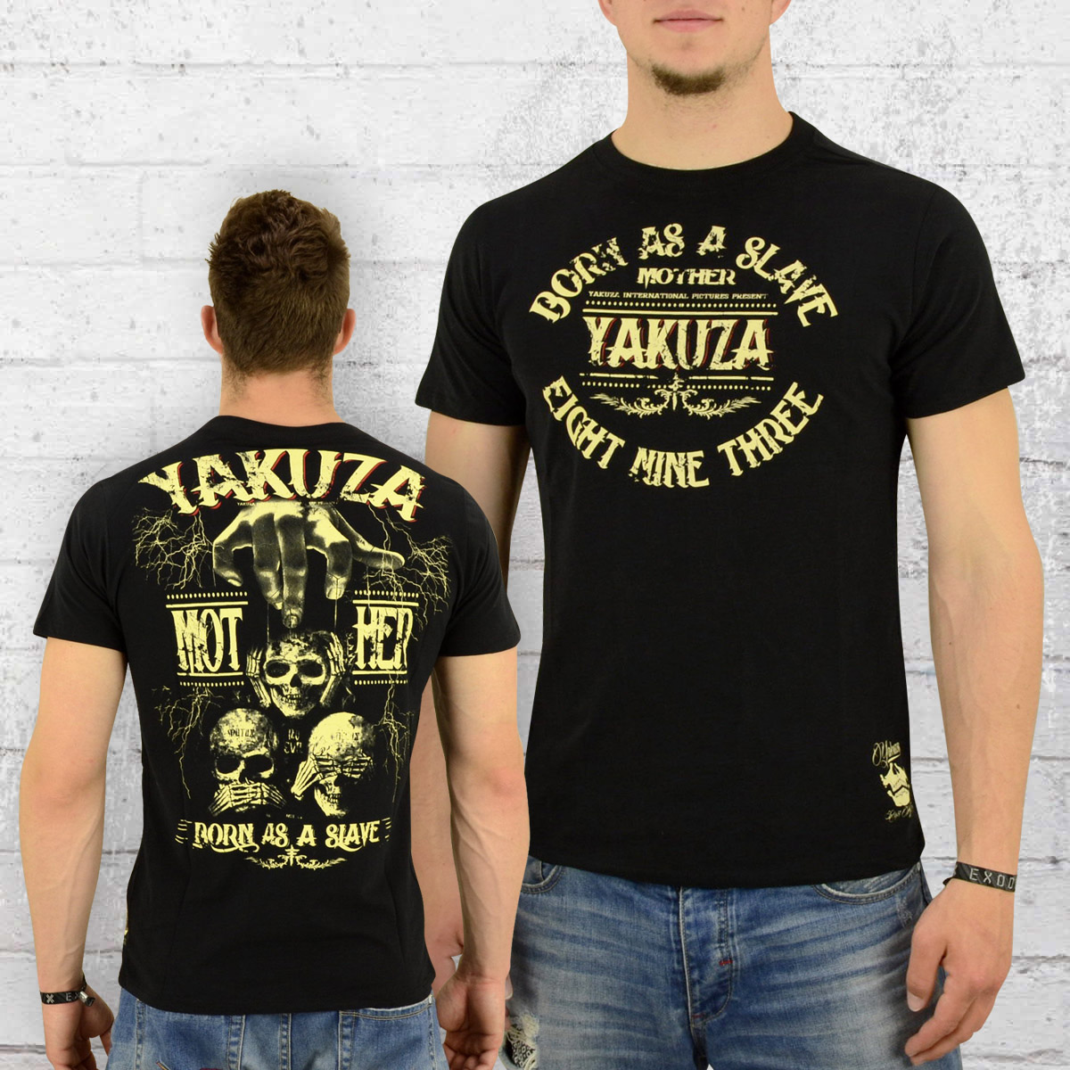 order now yakuza t shirt gents born as a slave tsb 8013. Black Bedroom Furniture Sets. Home Design Ideas