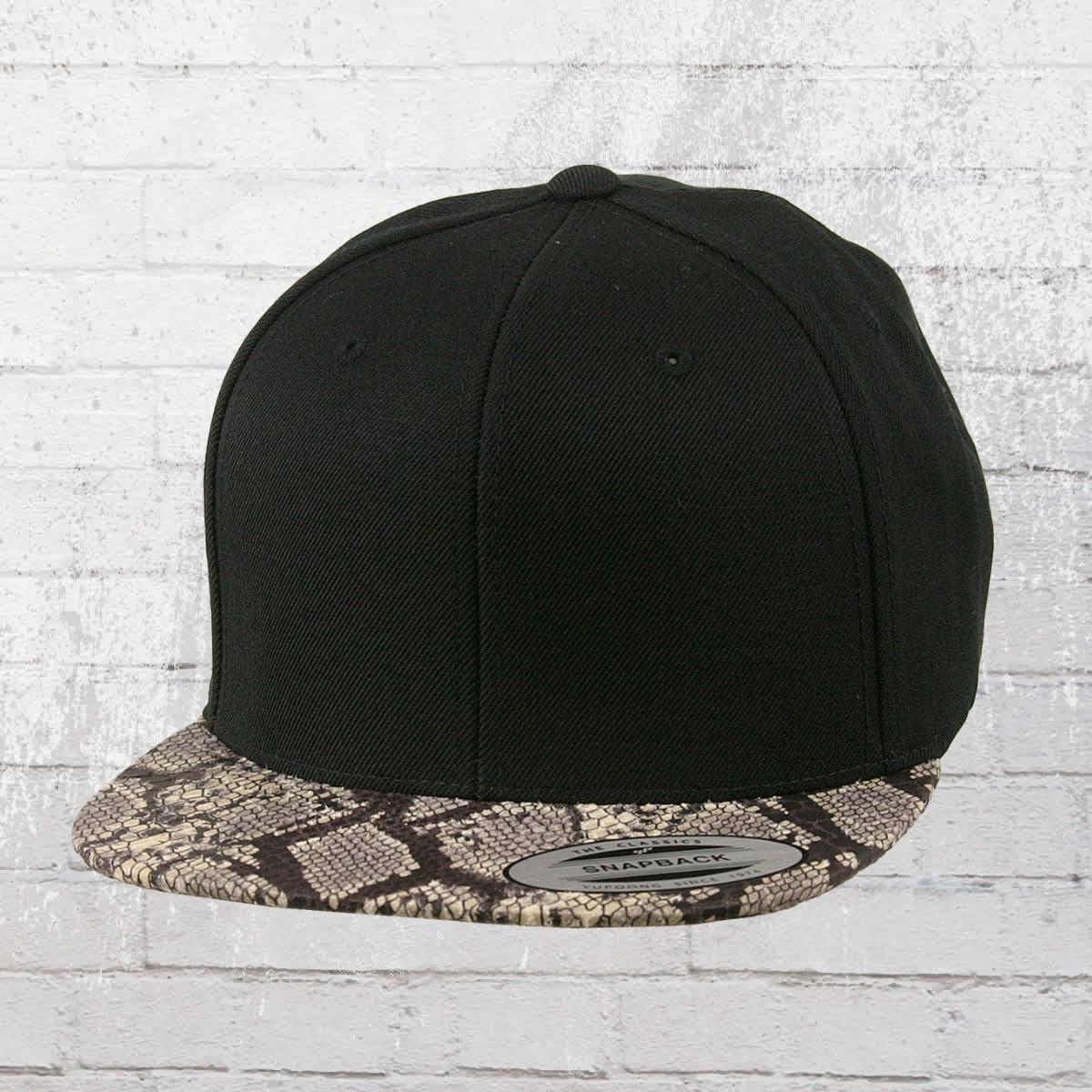 4b2ab0264d3 Yupoong by Flexfit Hat Animal Snapback Cap black cobra. ›‹ «