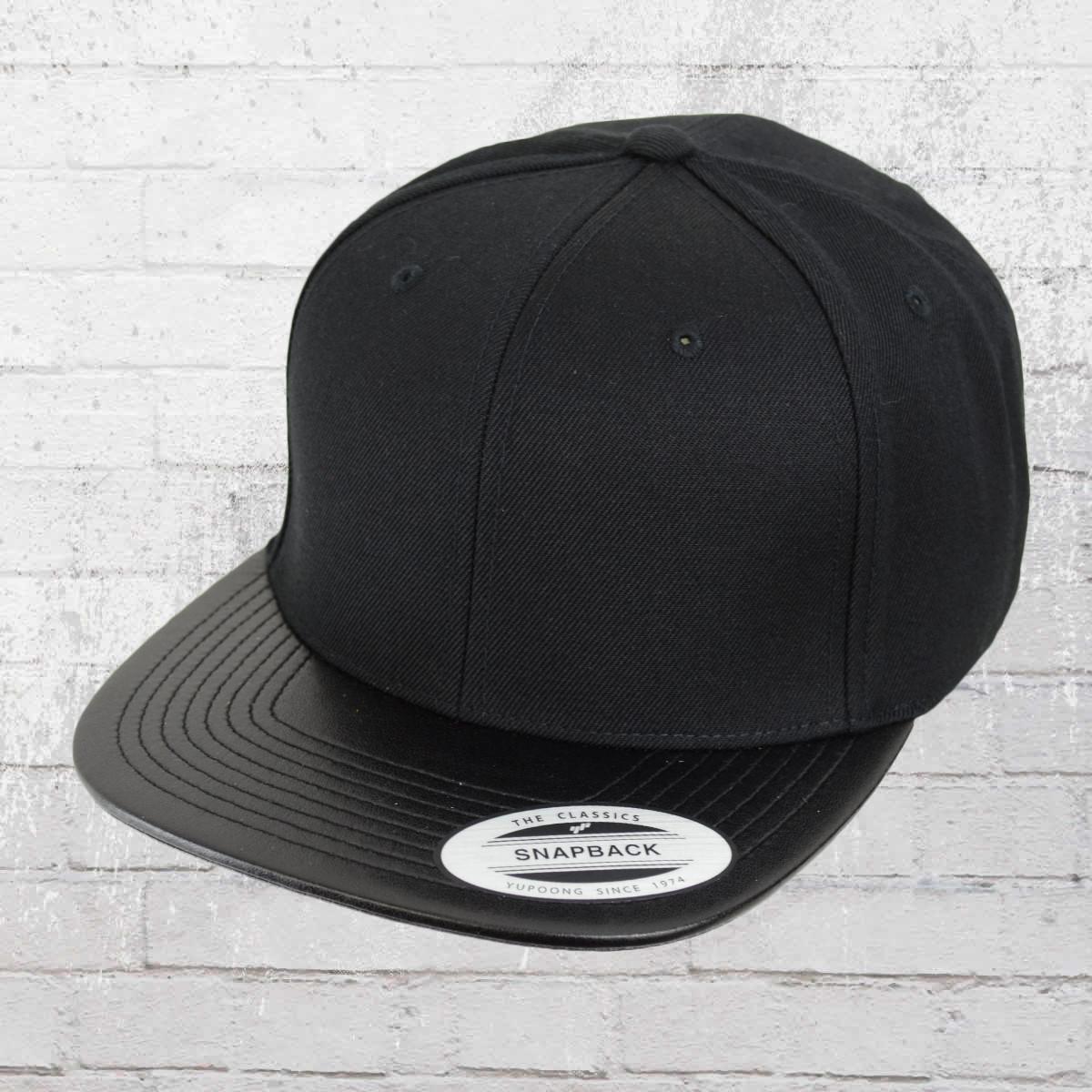 Jetzt bestellen | Yupoong by Flexfit Cap Fake Leather Snapback Kappe ...