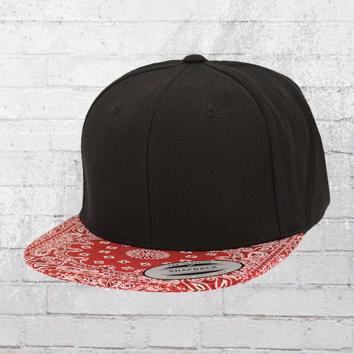 11ba1def0f5 Yupoong by Flexfit Cap Bandana Snapback Hat black red. ›‹ «