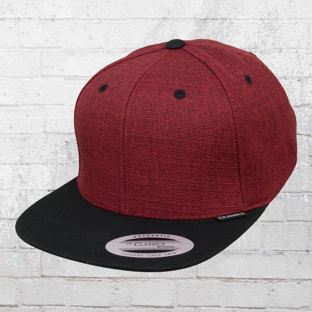 f9c4d73a7c3 Yupoong by Flexfit Classic Snapback Melange 2-Tone Snapback Cap red black
