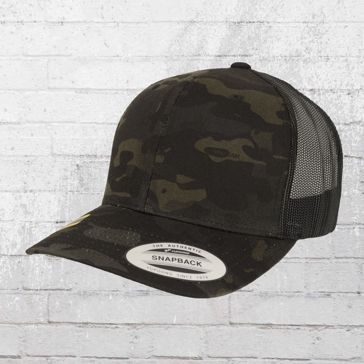 7fb0681b243fc Yupoong Hat Retro Trucker Cap Multicam black camo. ›‹ «