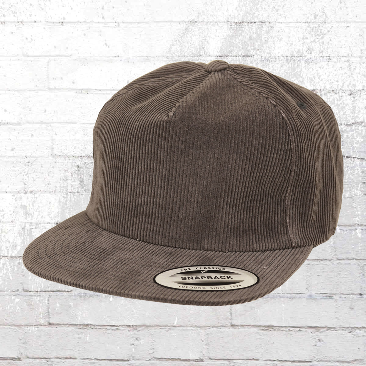 Order now | Yupoong by Flexfit Corduroy Snapback Hat grey